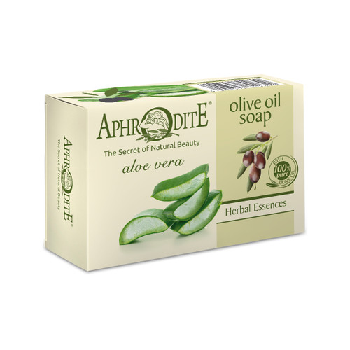 An extra moisturizing olive oil soap with aloe vera, perfect for dry or normal skin