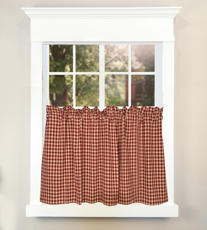 Heritage House Check Farmhouse Tiers - Barn Red 72x36 - 872319002699