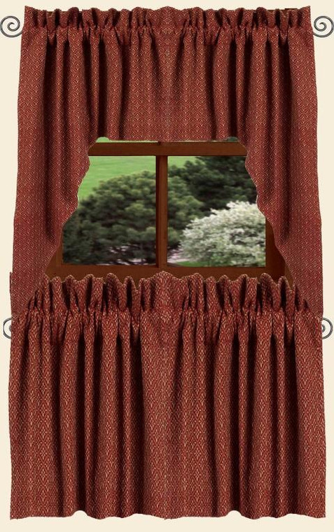 Philmont Jacquard Tiers - Barn Red 72x36 - 872319009087