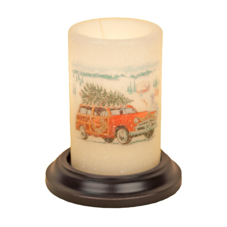 Candle Sleeve - Car with Tree - 400000488844