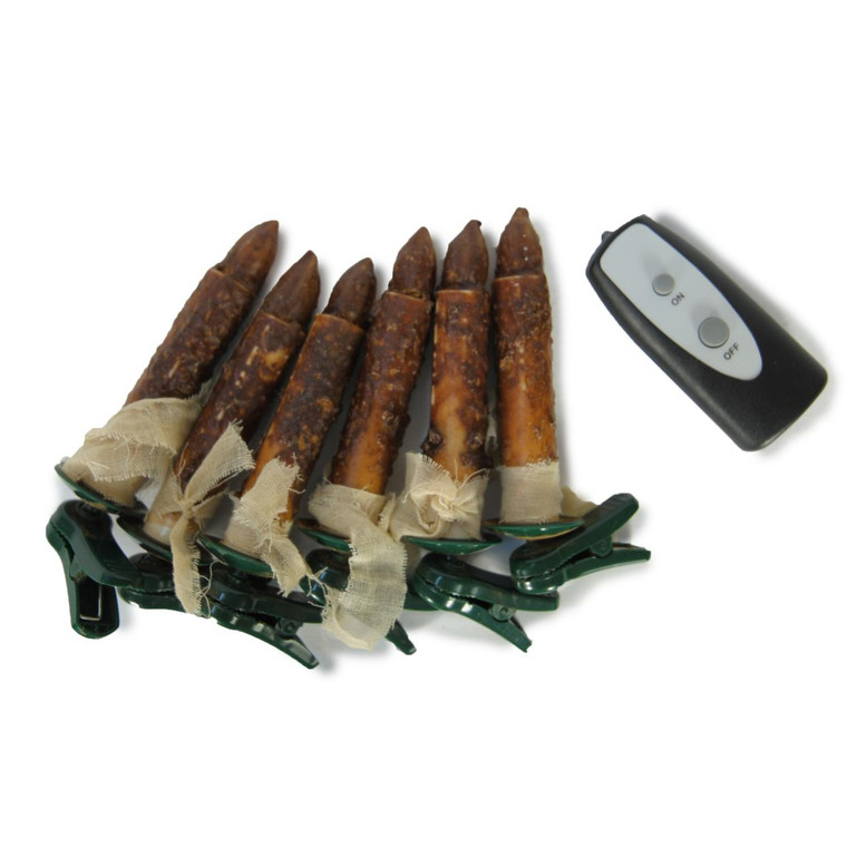Clip Candle Small - Brown Set Of 6 With Remote - 400000518572