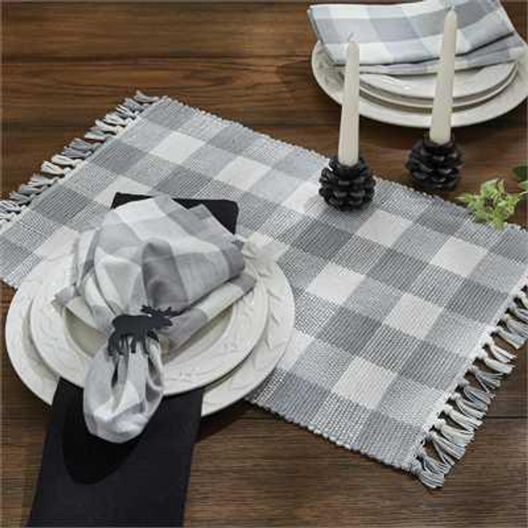 Wicklow Check Placemats - Dove Set of 6 - 762242420250