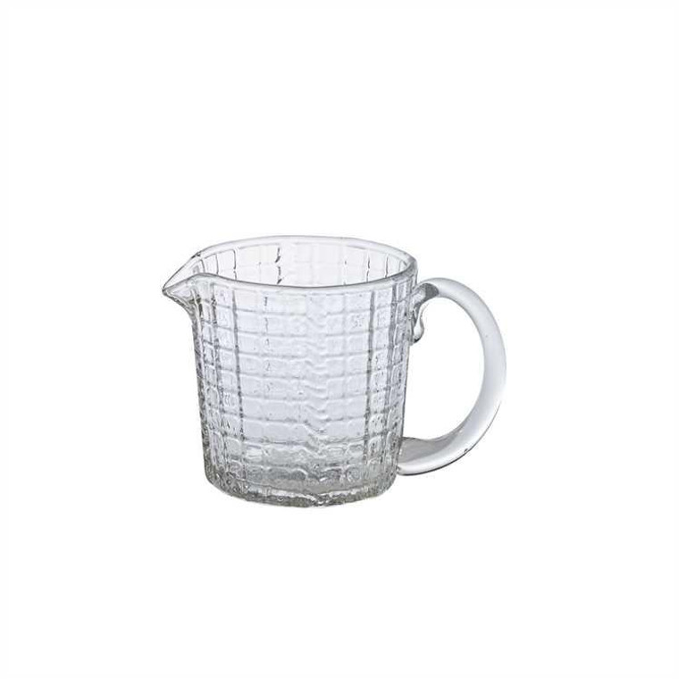 Small Glass Pitcher - Grid - 762242426559