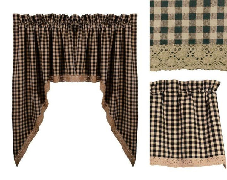 Lace Heritage House - Black Curtain Collection -