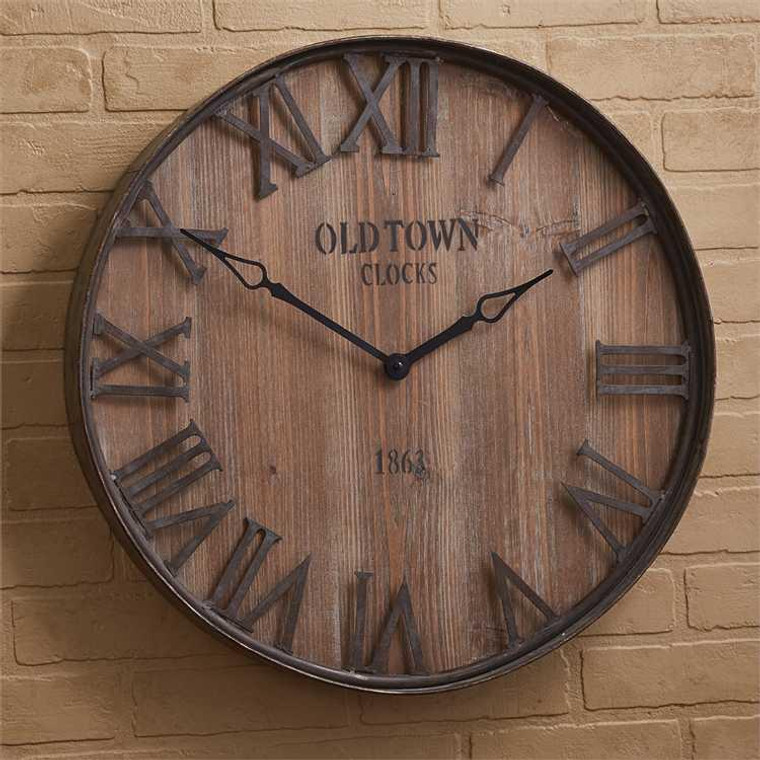 Old Town Galvanized Wall Clock - 762242417236
