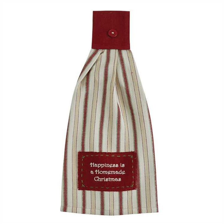 Happiness Is Homemade Christmas Tab Towels - Set of 2 - 762242428843