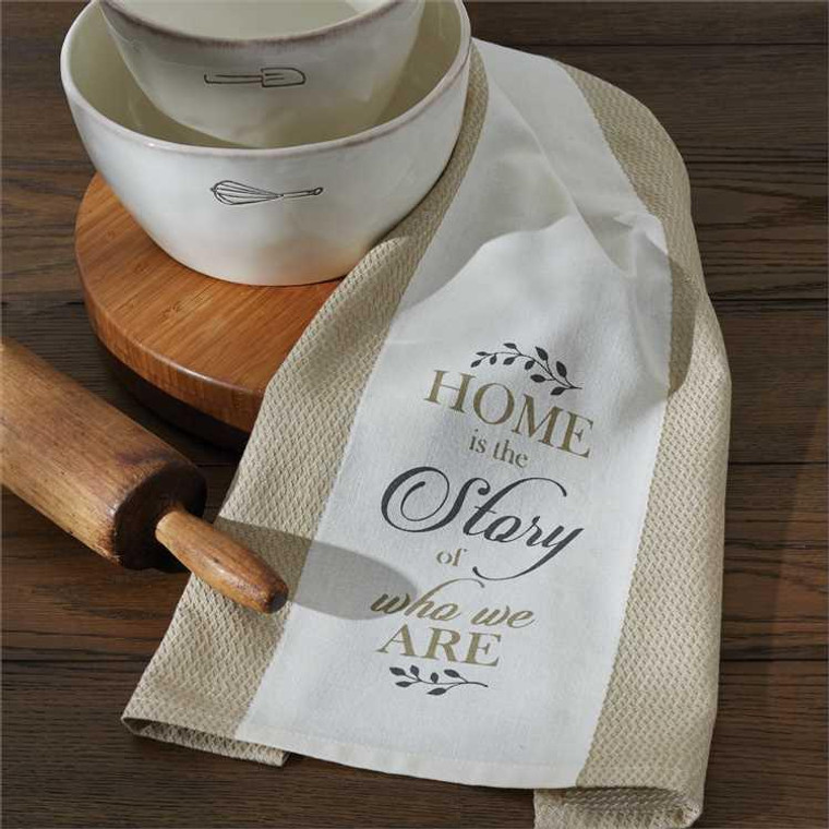 Home Is The Story Printed Jacquard Dishtowels - Set of 2 - 762242433328