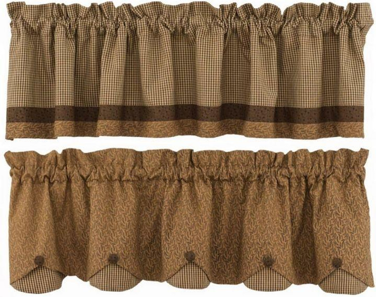 Shades of Brown Curtain Collection -
