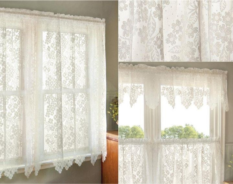Dogwood Lace Curtain Collection -