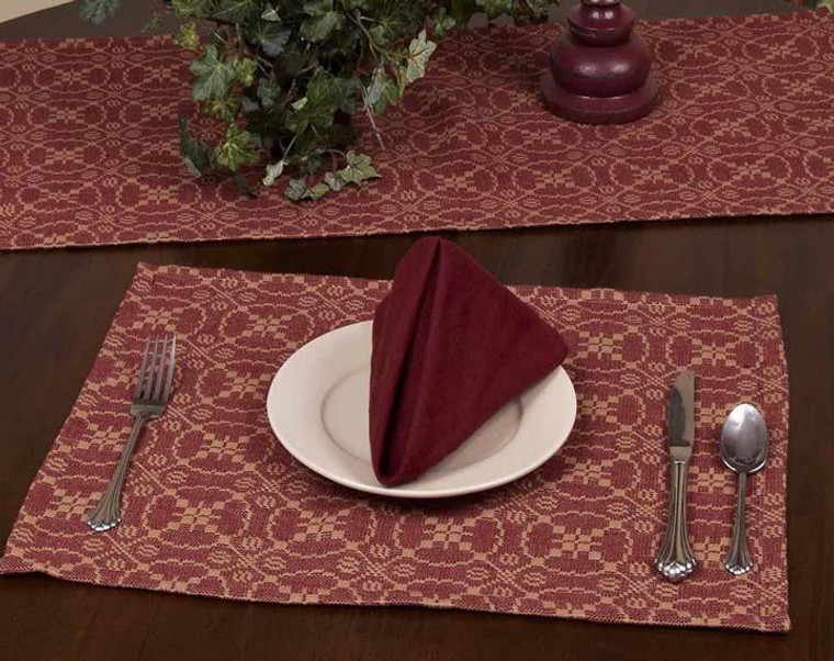 Marshfield Jacquard Barn Red Kitchen & Dining Collection -