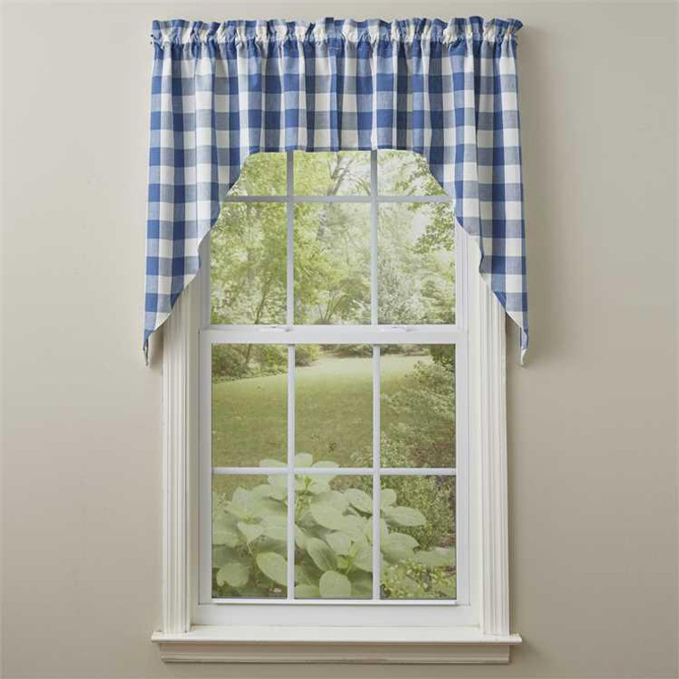 Wicklow Check Swags - China Blue 72x36 - 762242000292
