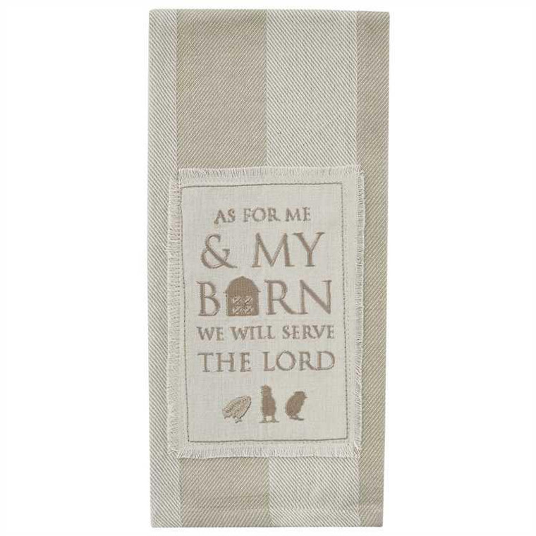 My Barn Embroidered Dishtowels - Set of 2 - 762242999824