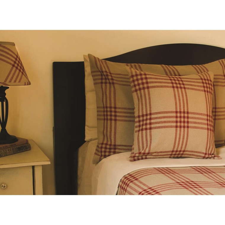 Chesterfield Check Bed Cover - Barn Red - 640970738246