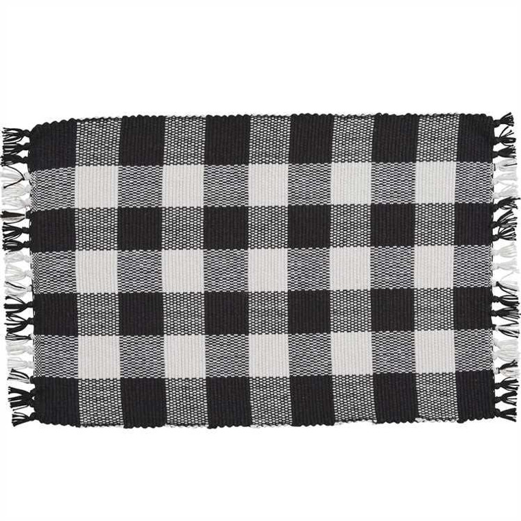 Wicklow Check Placemats - Black & Cream Set of 6 - 762242994881