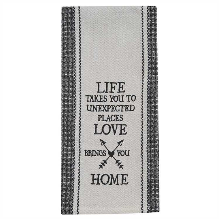 Life Takes You Embroidered Dishtowels - Set of 2 - 762242999671