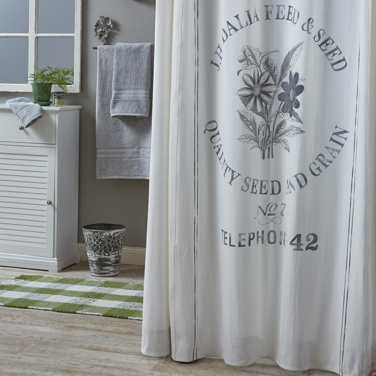 Seed Sack Shower Curtain - 762242010499