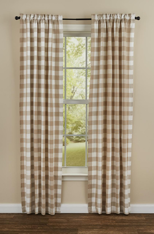 Wicklow Check Panels - Natural 72x84 - 762242015210