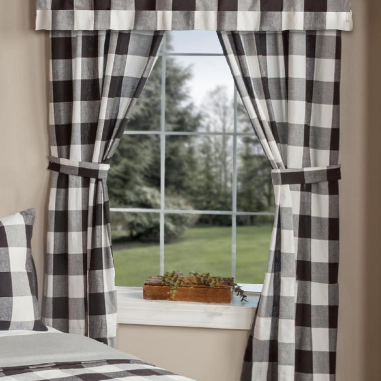 Wicklow Large Check Panels - Black 72x84 - 400000604169
