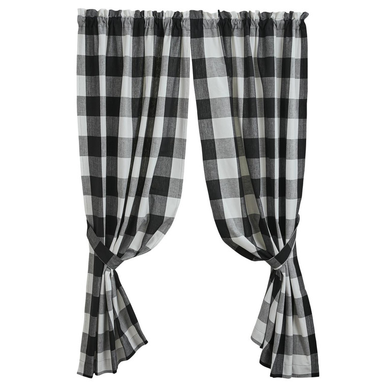 Wicklow Large Check Panels - Black 72x63 - 400000604138