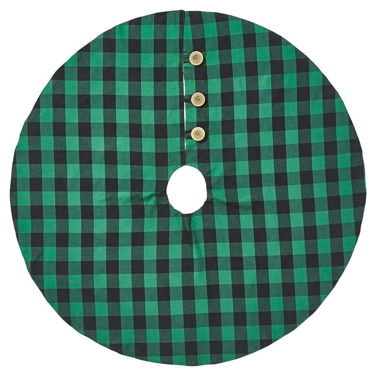 """Wicklow Check Tree Skirt - Forest 52"""" - 762242018402"""