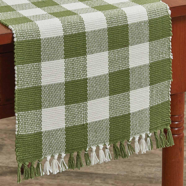 Wicklow Check Table Runner - Sage 13x54 - 762242010109