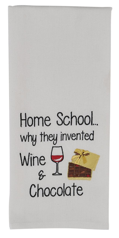 Home School Embroidered Dishtowels - Set of 2 - 762242028920