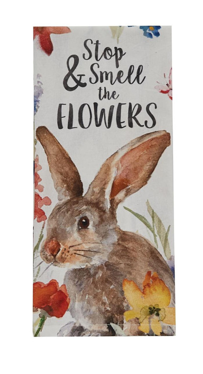 Smell The Flowers Printed Dishtowels - Set of 2 - 762242438019