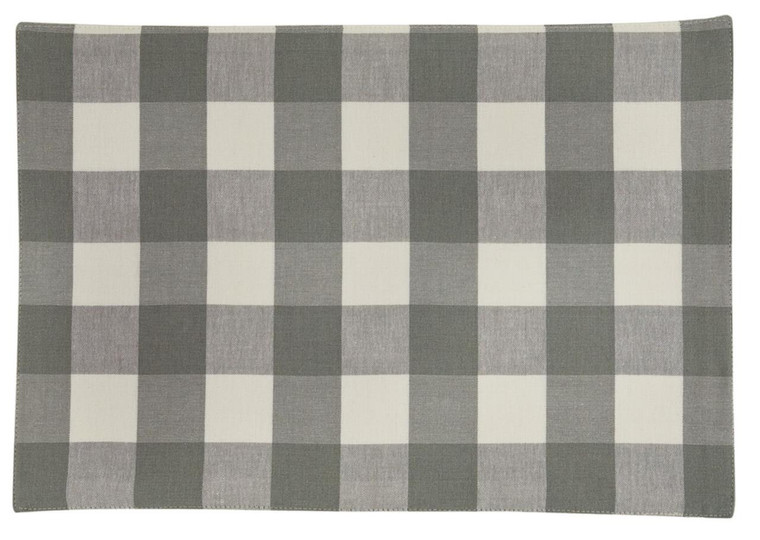 Wicklow Check Placemats - Dove  Backed Set of 6 - 762242021358