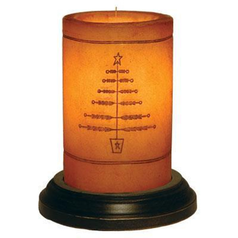 Candle Sleeve - Primitive Feather Tree - 400000131566