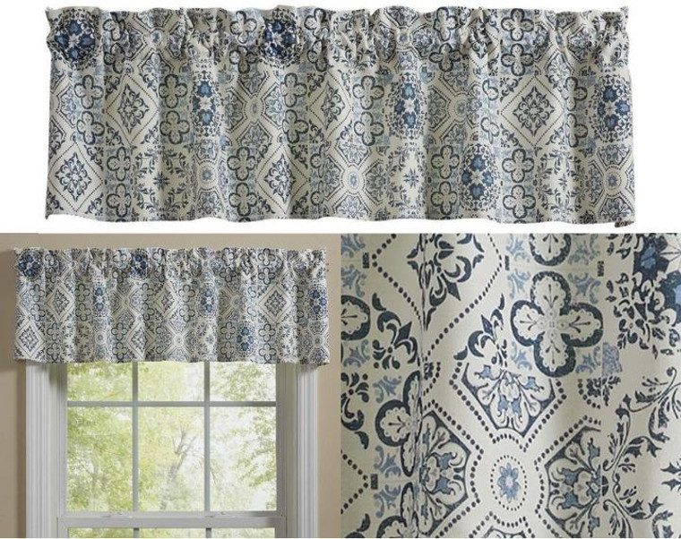 Delft Tile Curtain Collection -