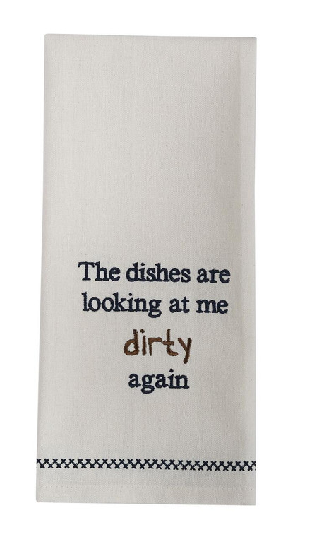Looking Dirty Embroidered Decorative Dishtowels - Set of 2 - 762242028302
