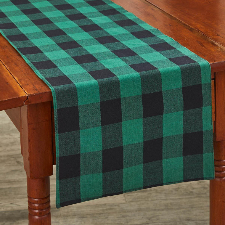 Wicklow Check Table Runners - Forest Backed - 762242021600