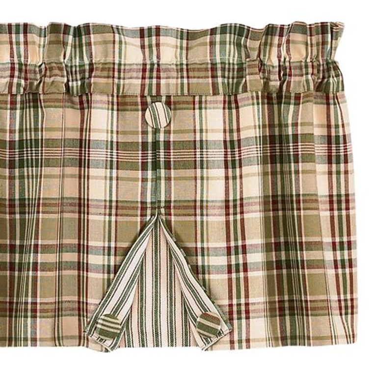 Thyme Valance - Pleated Button 60x14 - 762242232594