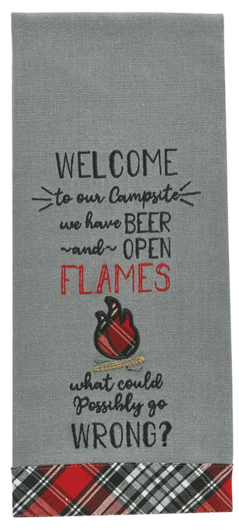 Beer and Open Flames Dishtowels - Set of 2 - 762242028890
