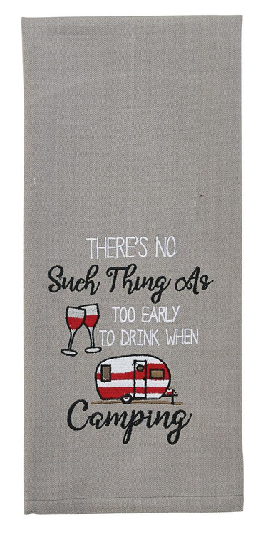 Too Early To Drink Embroidered Dishtowels - Set of 2 - 762242017887