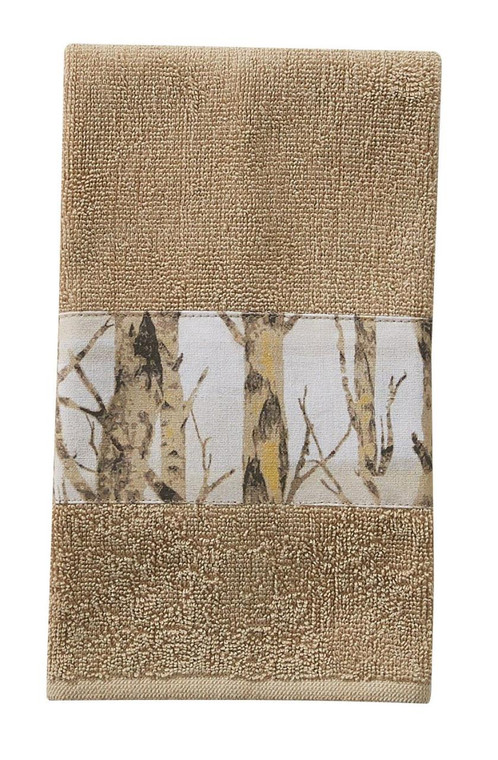 Birch Forest Terry Fingertip Towels - Set of 2 - 762242012899