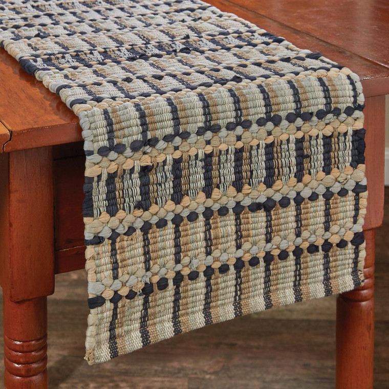 Tempest Chindi Table Runners - Gray - 762242014695