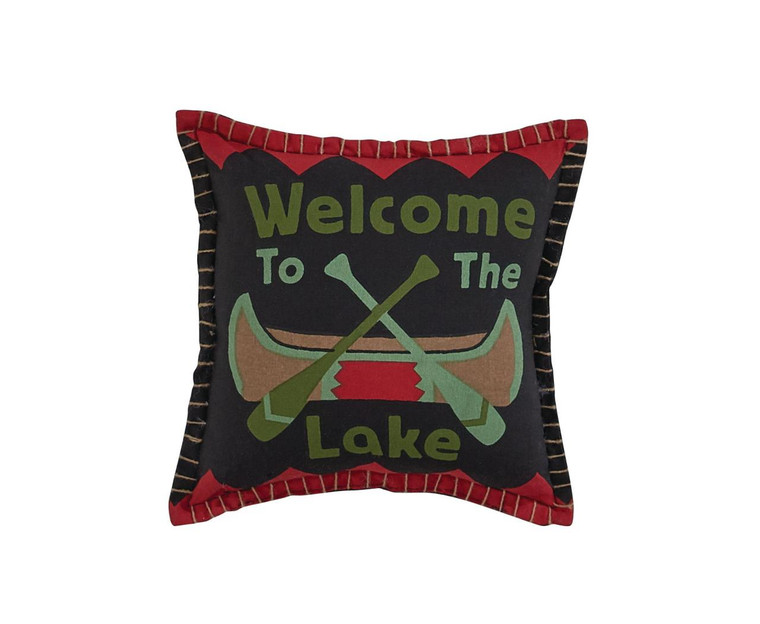 Welcome To The Lake Pillow - 10x10 - 762242423206