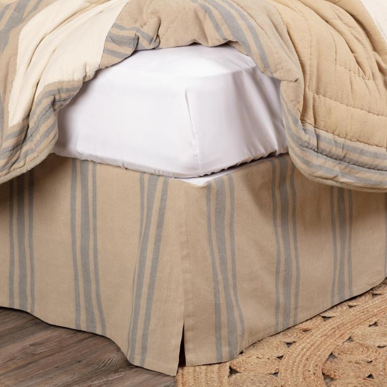 Farmer's Market Grain Sack Stripe Bed Skirt - 840528194078