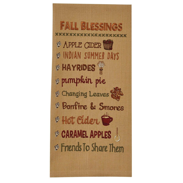 Fall Blessings Embroidered Dishtowels Set of 2 - 762242003026