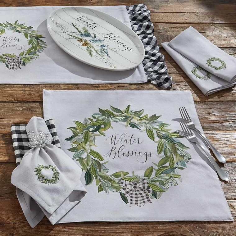 Winter Blessings Placemats - Set of 6 - 762242031982