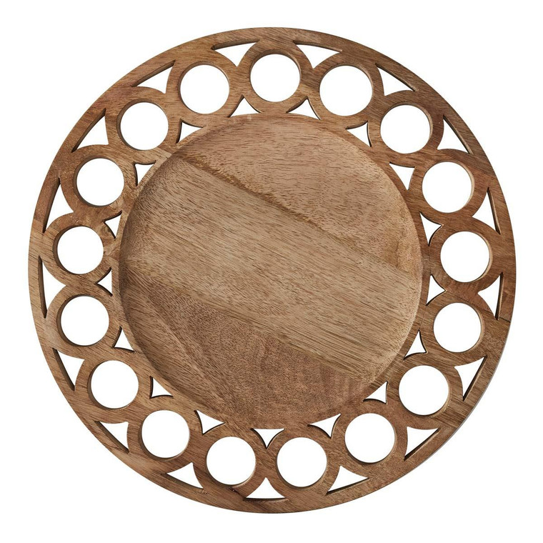 Wooden Circles Charger - 762242029392