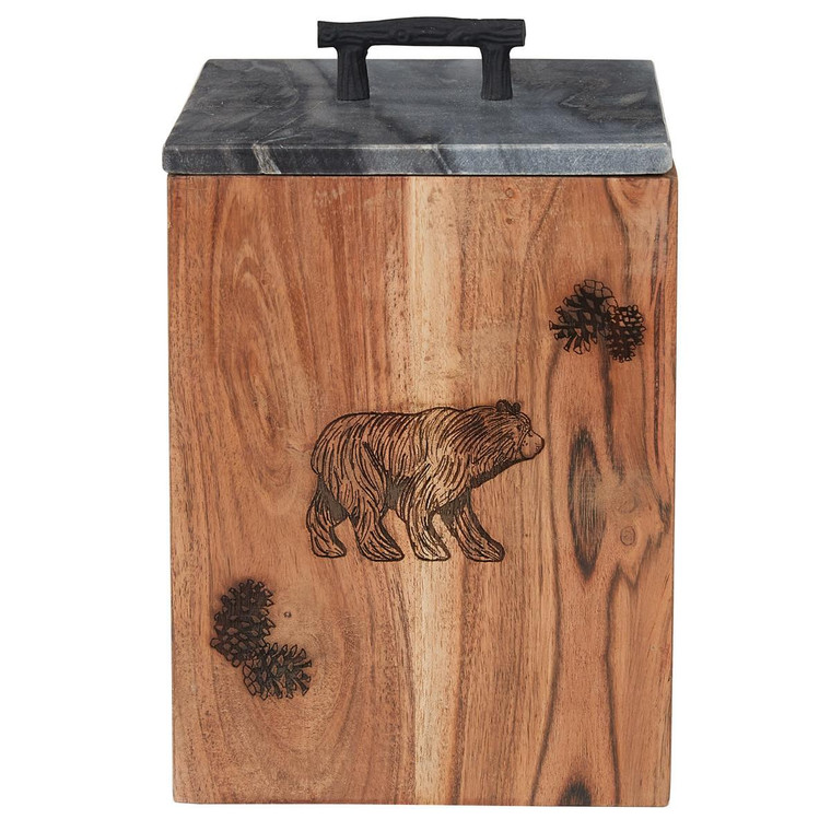 Rustic Wood Canister - Large - 762242035447
