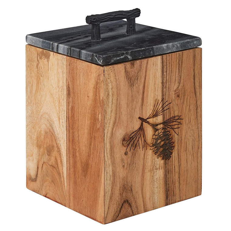 Rustic Wood Canister - Small - 762242035454