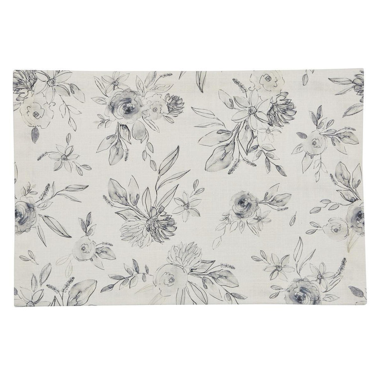 Midnight Floral Placemats - Set of 6 - 762242033269