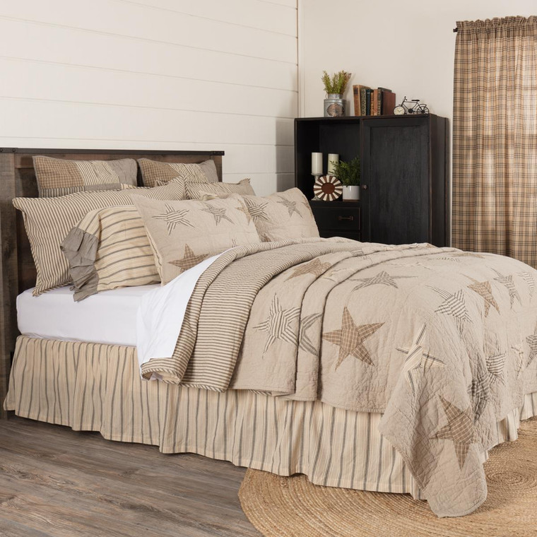 Sawyer Mill Star Charcoal Quilt - 840528174575