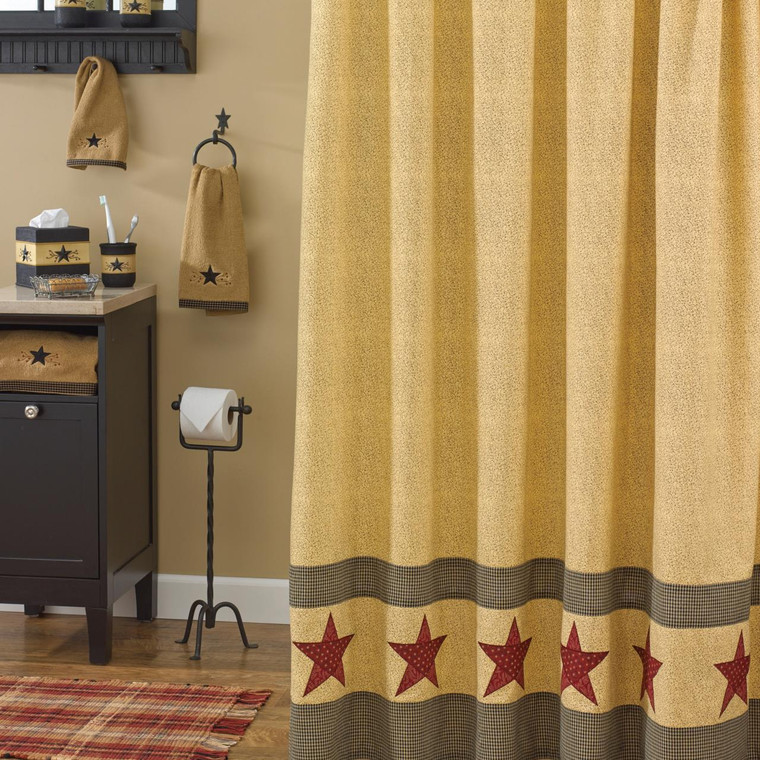 Country Star Shower Curtain - 762242345393
