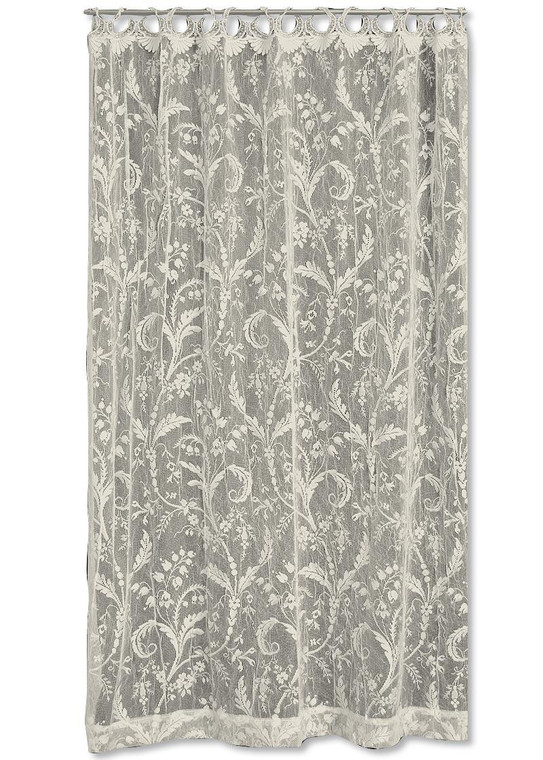 Coventry Ivory Lace Panel - W/Rings - 40000042207