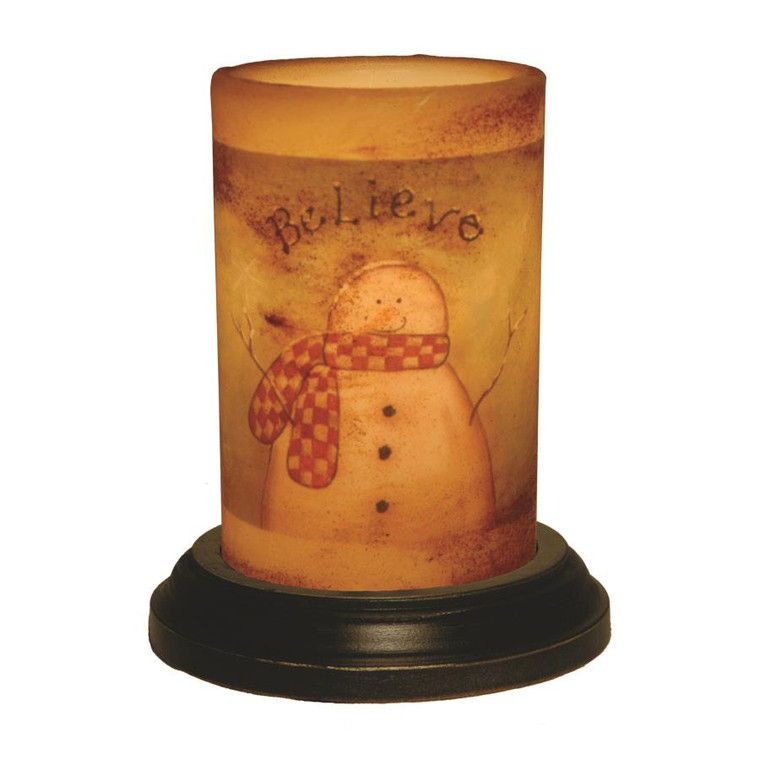 Candle Sleeve - Believe Snowman - 400000427430