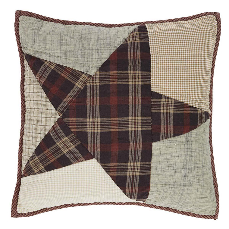 Abilene Star Pillow - 16x16 Quilted - 840528152788